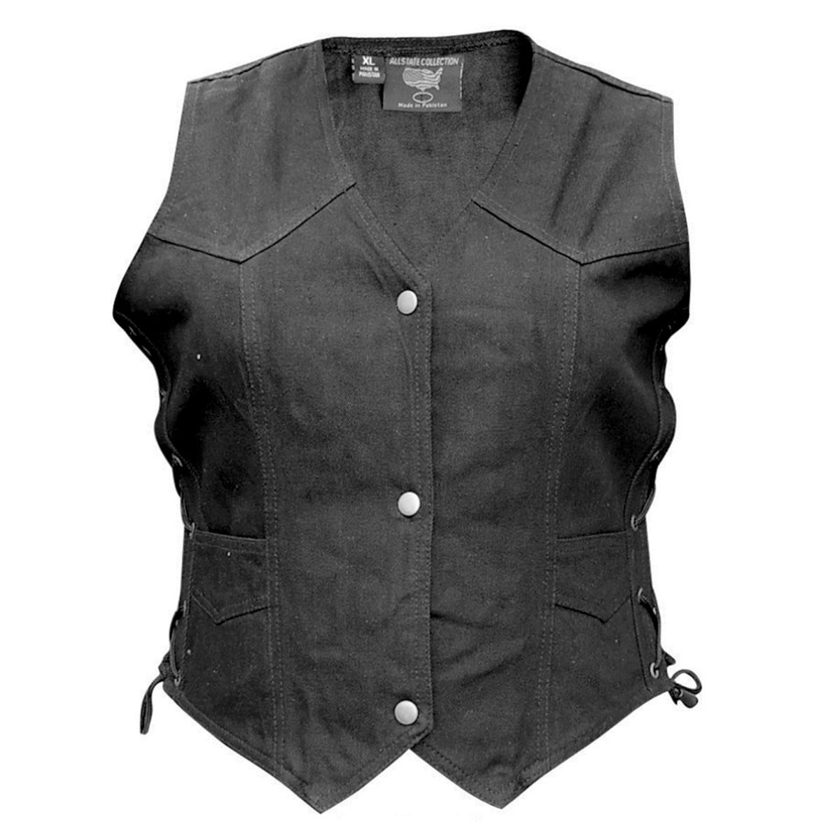 Allstate Leather Inc. Ladie′s Denim Vest