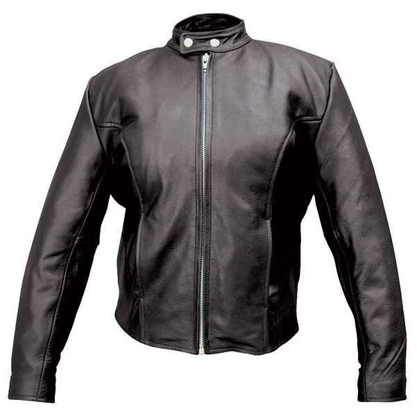 Allstate Leather Inc. Women′s Basic Scooter Jacket with Zipout Liner