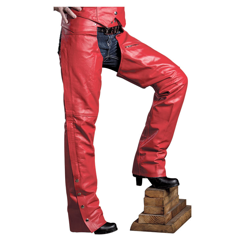 Allstate Leather Inc. Women′s Red Leather Chaps
