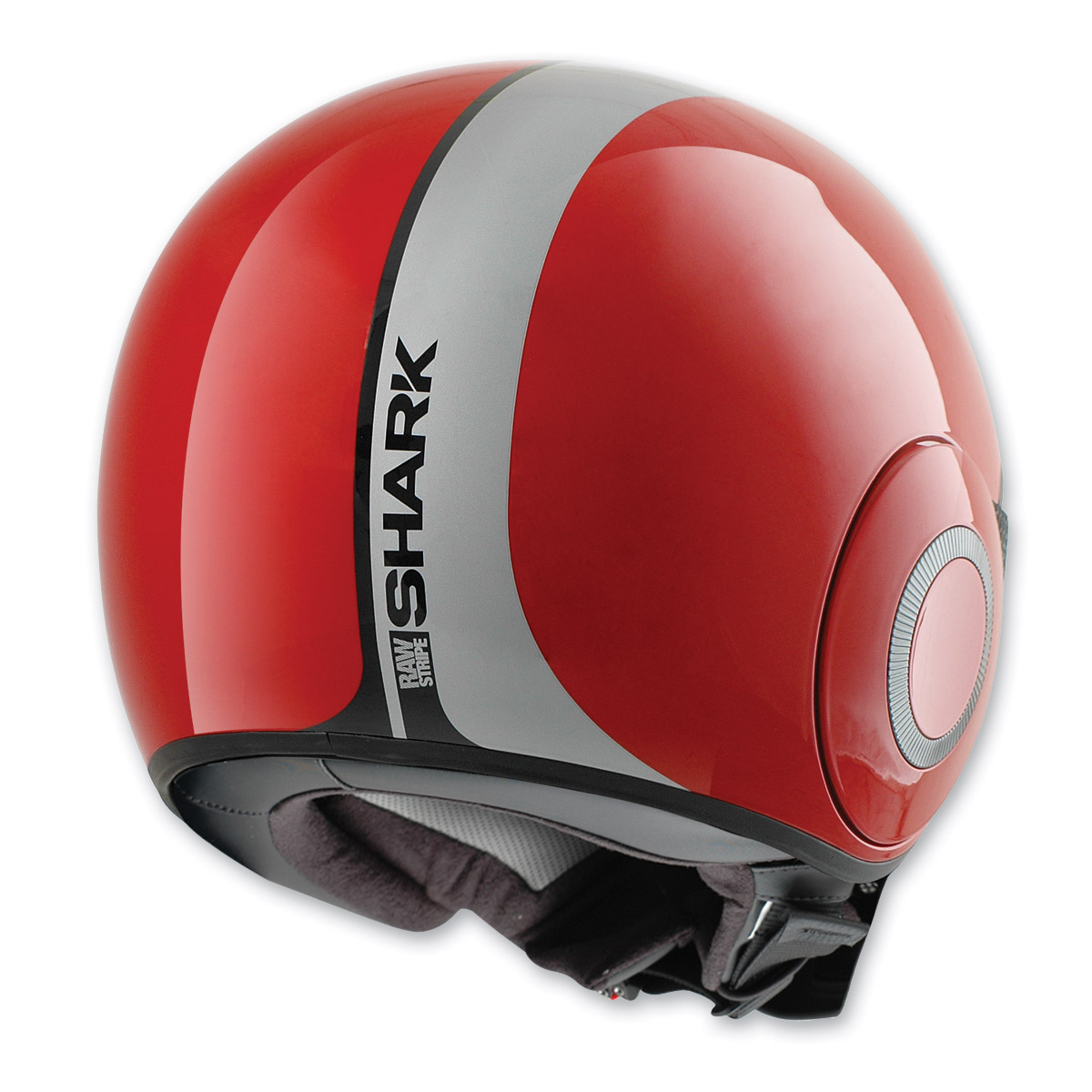 Shark RAW Stripe Red/White Helmet