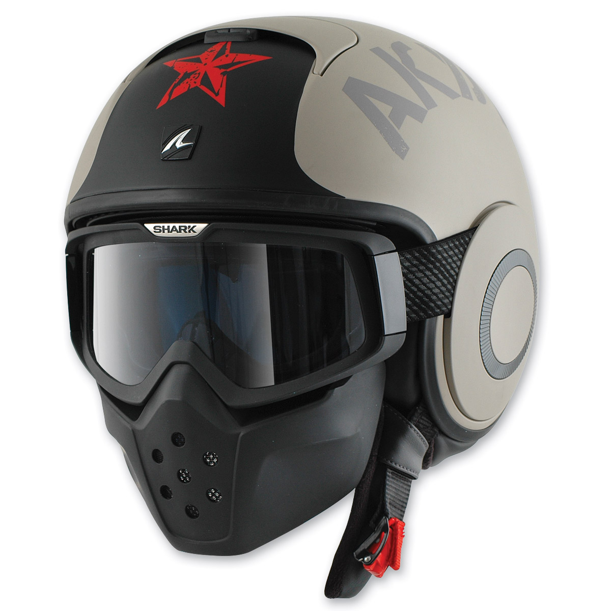 Shark RAW Soyouz Matte Gold/Black Helmet