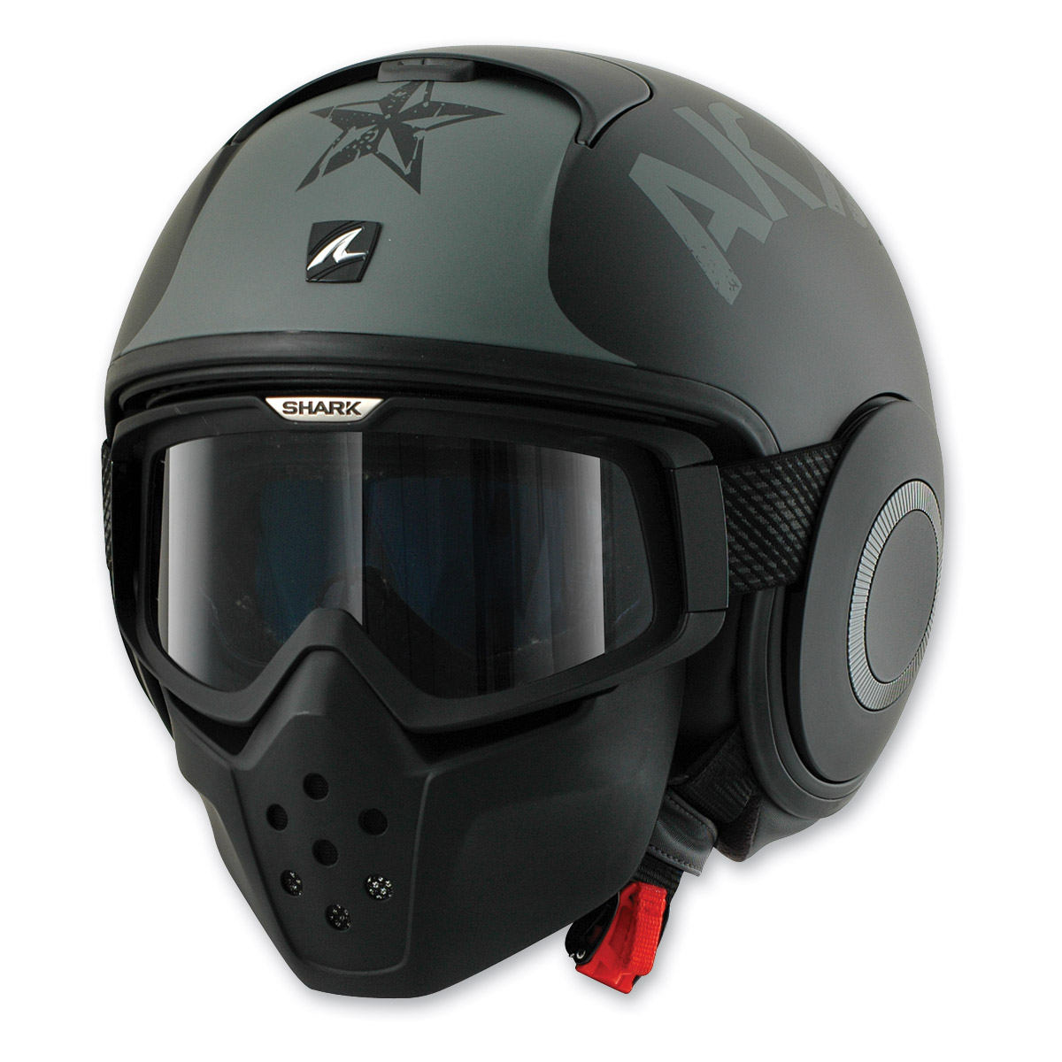 Shark RAW Soyouz Matte Black/Gray Helmet