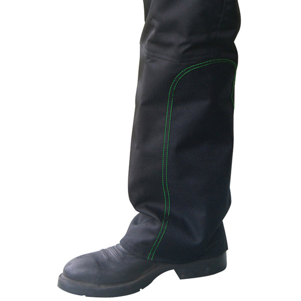 Missing Link Nylon Reversible Hook Chaps with Kevlar Muffler Guard