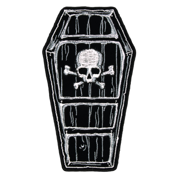 Hot Leathers Coffin Embroidered Patch