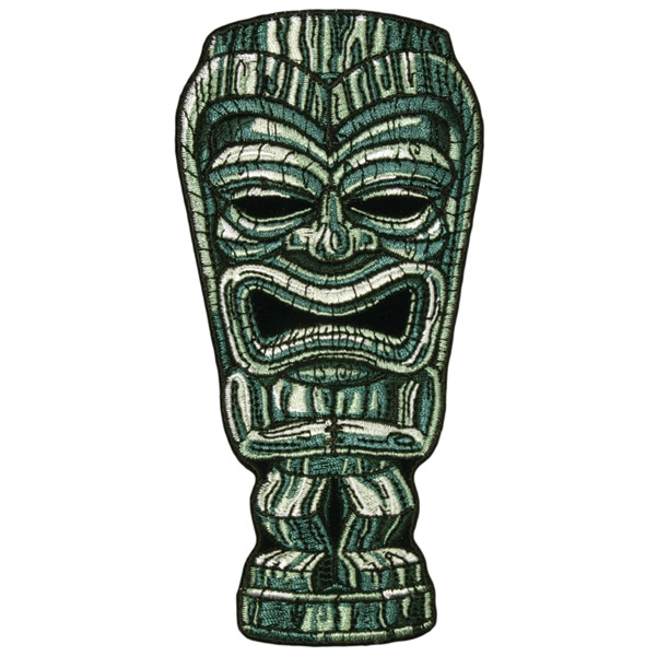 Hot Leathers Tiki Man Embroidered Patch