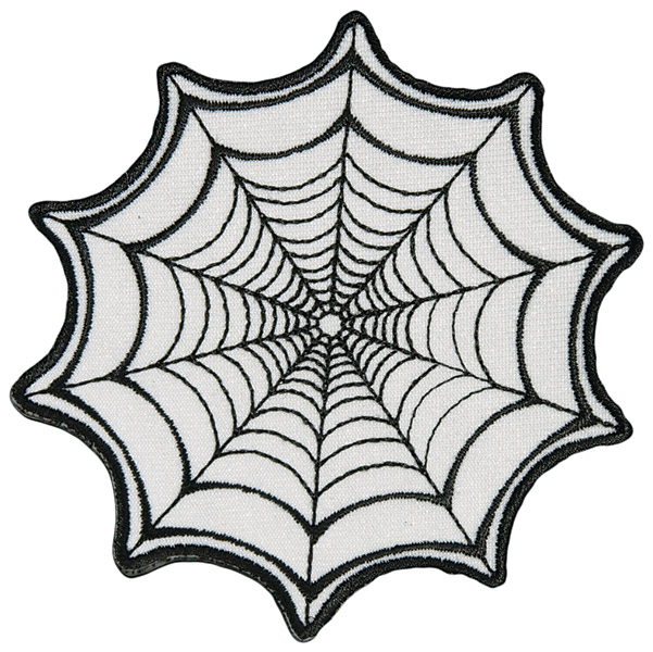 Hot Leathers Spider web Embroidered Patch