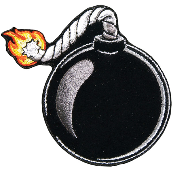 Hot Leathers Ball Bomb Embroidered Patch