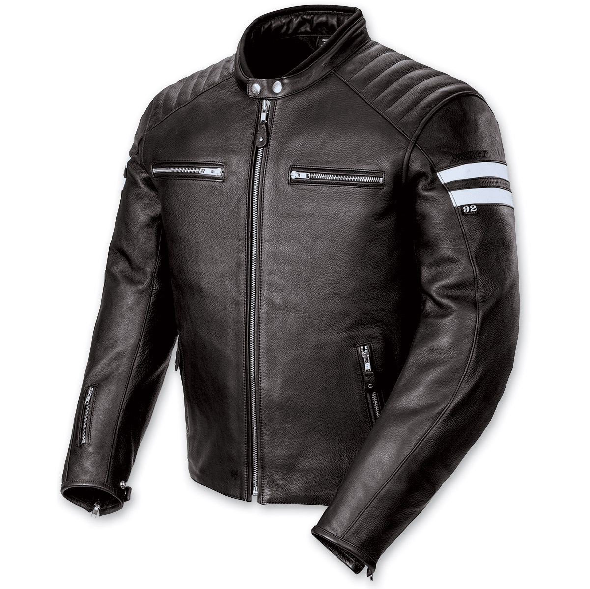 Joe Rocket Men′s Classic '92 Black and White Jacket