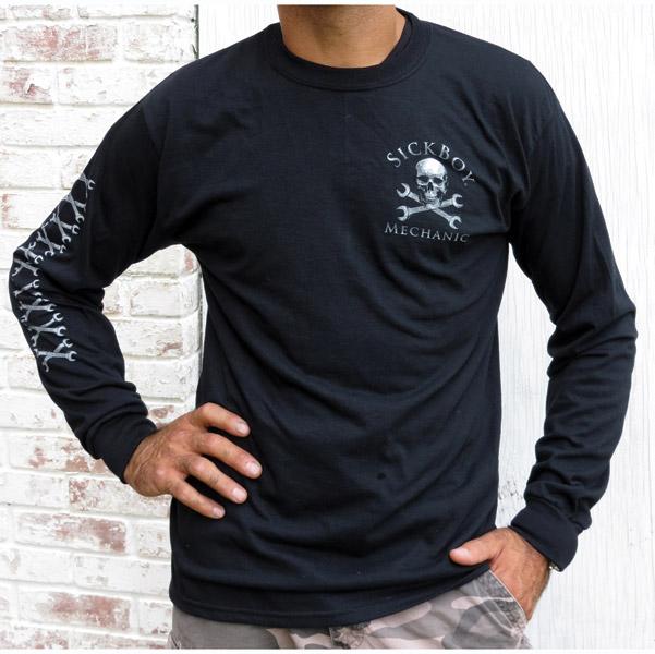Sick Boy Men S Mechanic Black Long Sleeve Shirt 725 162