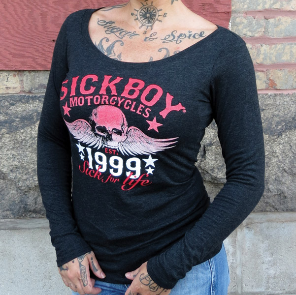 Sick Boy Sick For Life 1999 Scoop Neck Long Sleeve Shirt