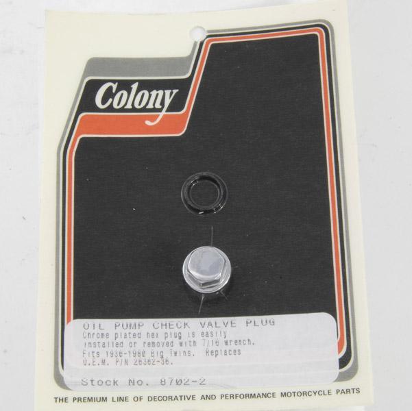 Colony Oil Pump Check Valve Plug