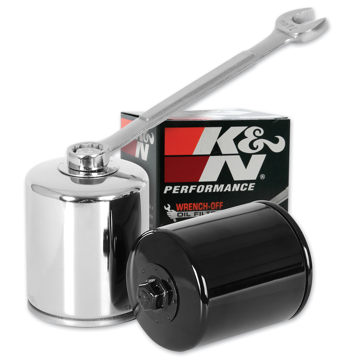 K&N High Performance Chrome Wrench-Off Oil Filter