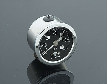 V-Twin Manufacturing Liquid Filled Oil Pressure Gauge