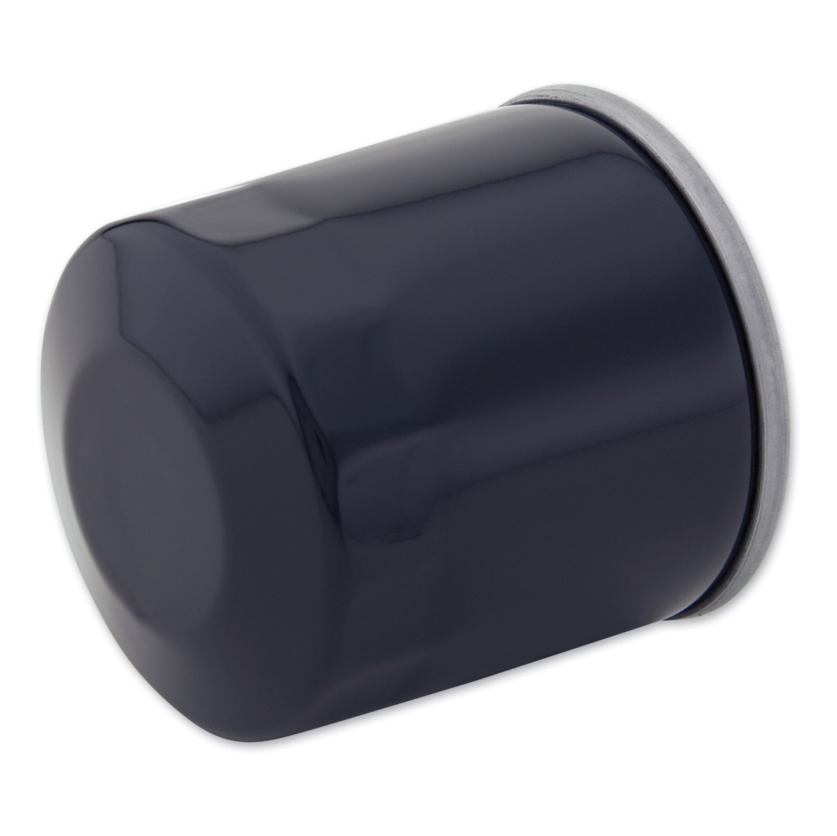 J&P Cycles® Black Oil filter for Jardine Oil Filter Relocation Kit