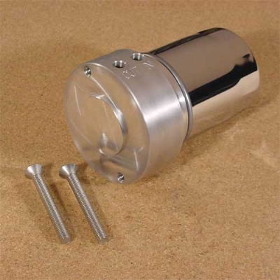 V-Twin Manufacturing Chrome Generator Oil Filter Adapter