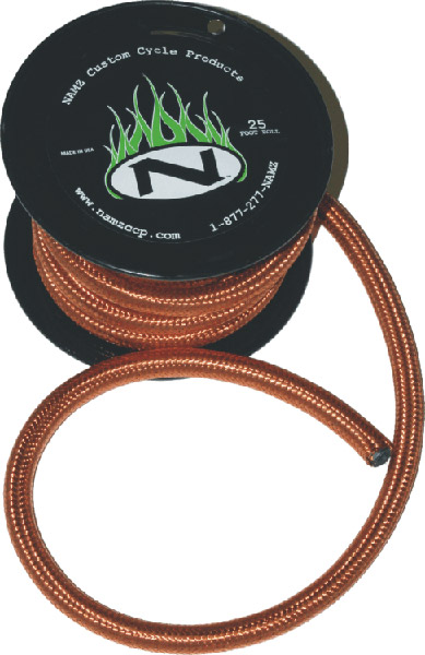 NAMZ Custom Cycle 25′ Copper Fuel Line with 1/4″ ID