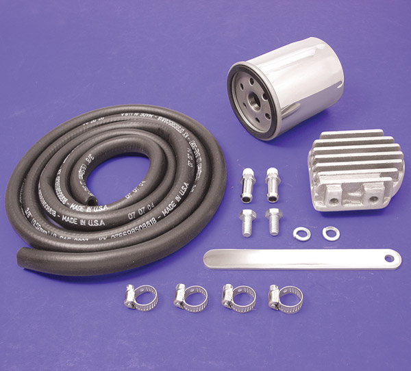 Twin Air Engine Oil Cooler : V twin manufacturing oil filter cooler kit j p