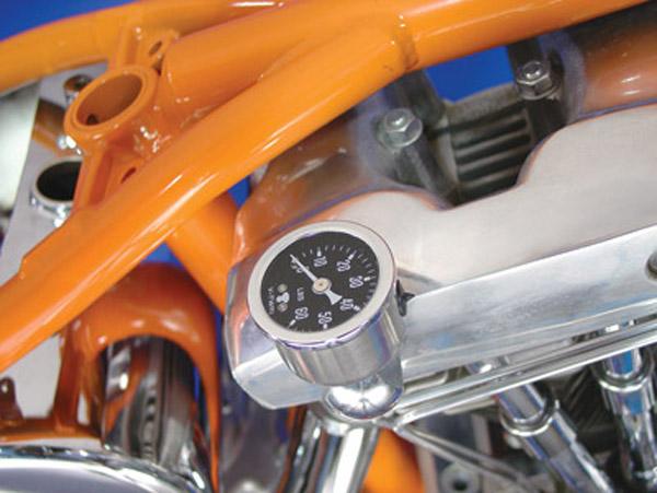 V-Twin Manufacturing Nugget Oil Gauge Kit for Shovelhead Models - 40-9988