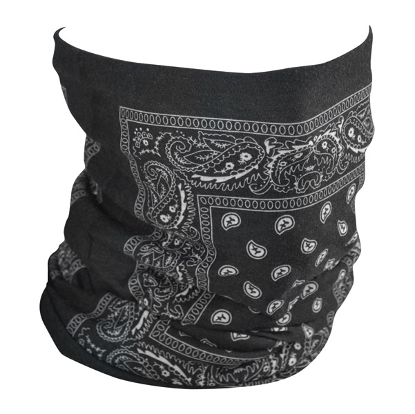 ZAN headgear Black Paisley Fleece Lined Motley Tube