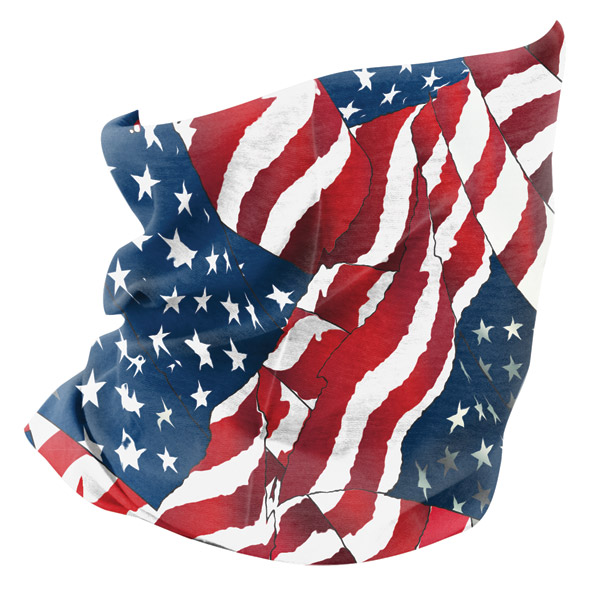 ZAN headgear Waving American Flag Fleece Lined Motley Tube