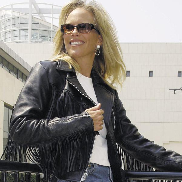 Interstate Leather Women's Madonna Fringe Black Leather Jacket