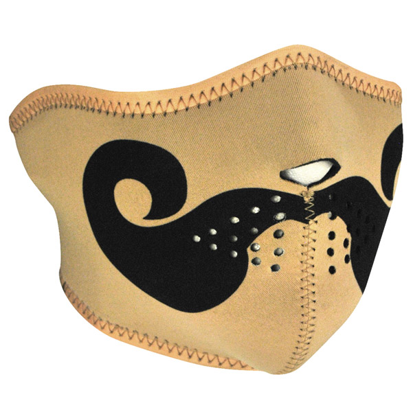 ZAN headgear Curly Mustache Neoprene Half Mask