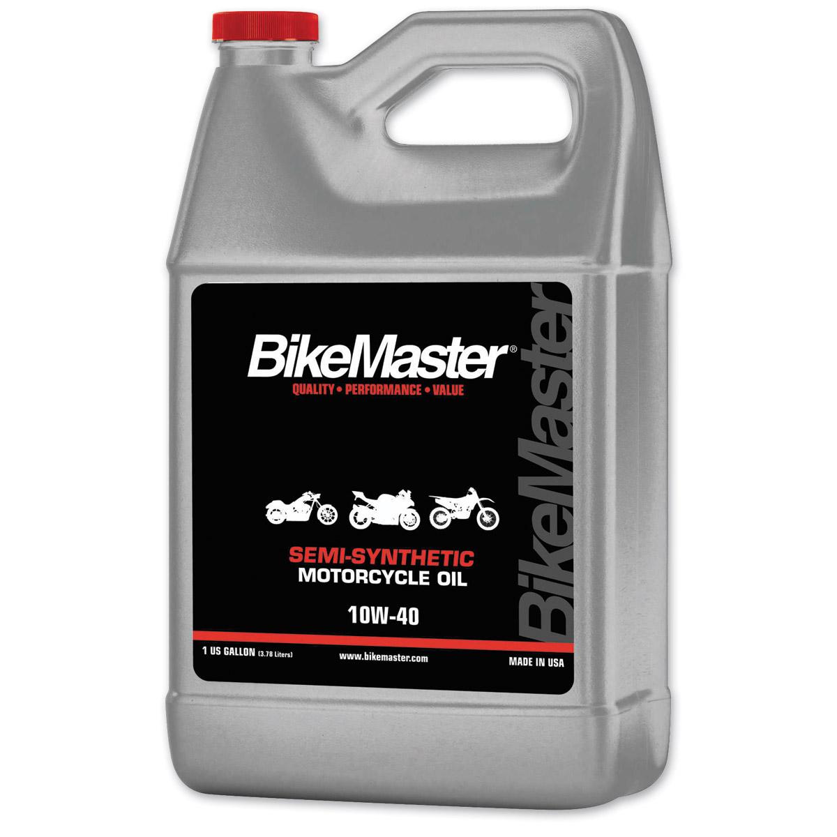 Bikemaster semi synthetic 10w40 engine oil 742 213 j p for Semi synthetic motor oil