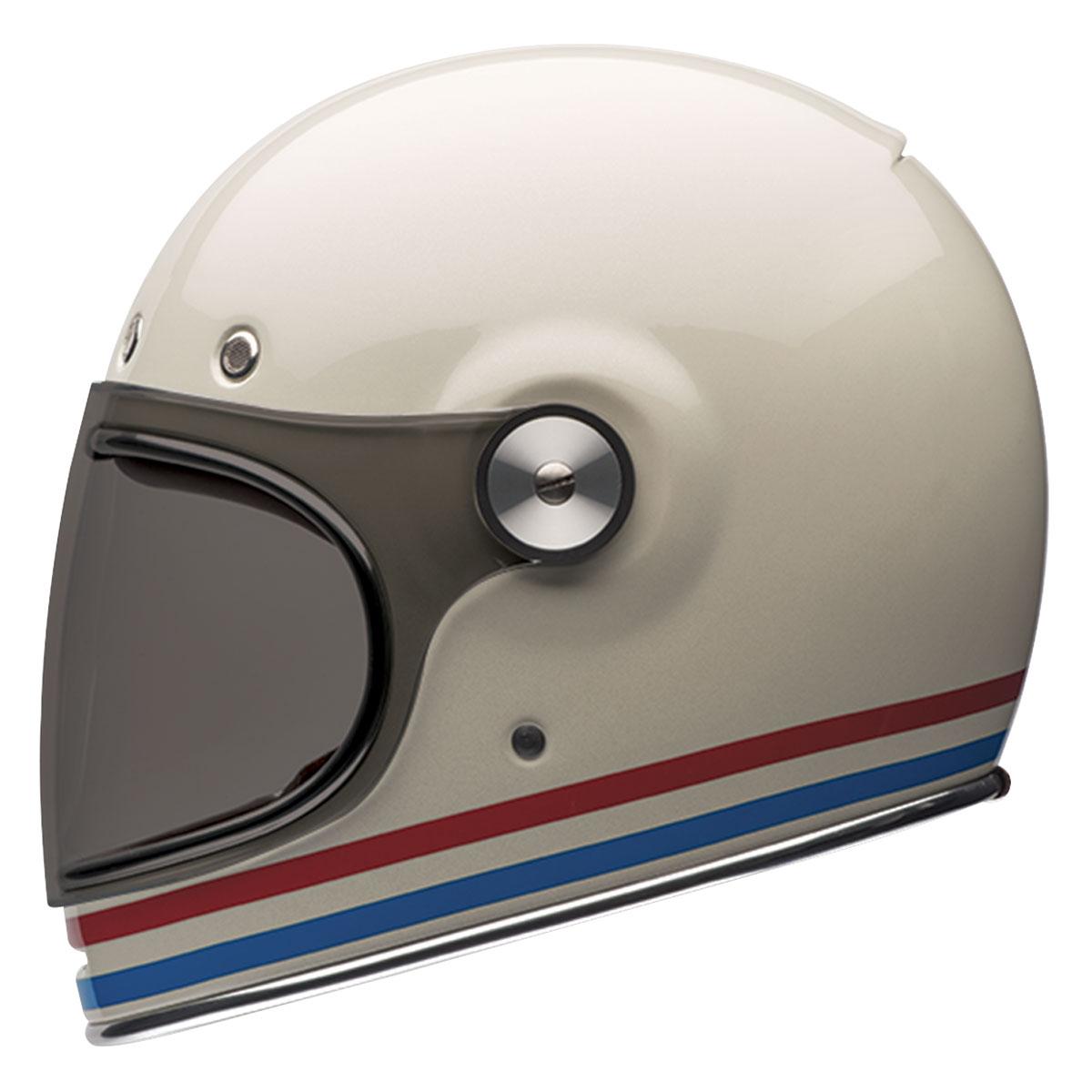 Bell Bullitt Stripes Pearl White Full Face Helmet