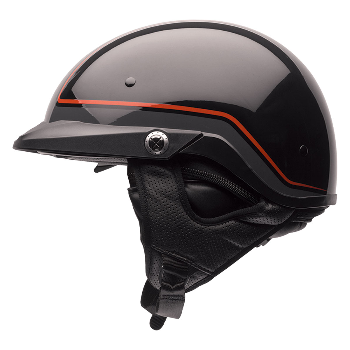 Bell Pit Boss Pinstripe Orange Half Helmet