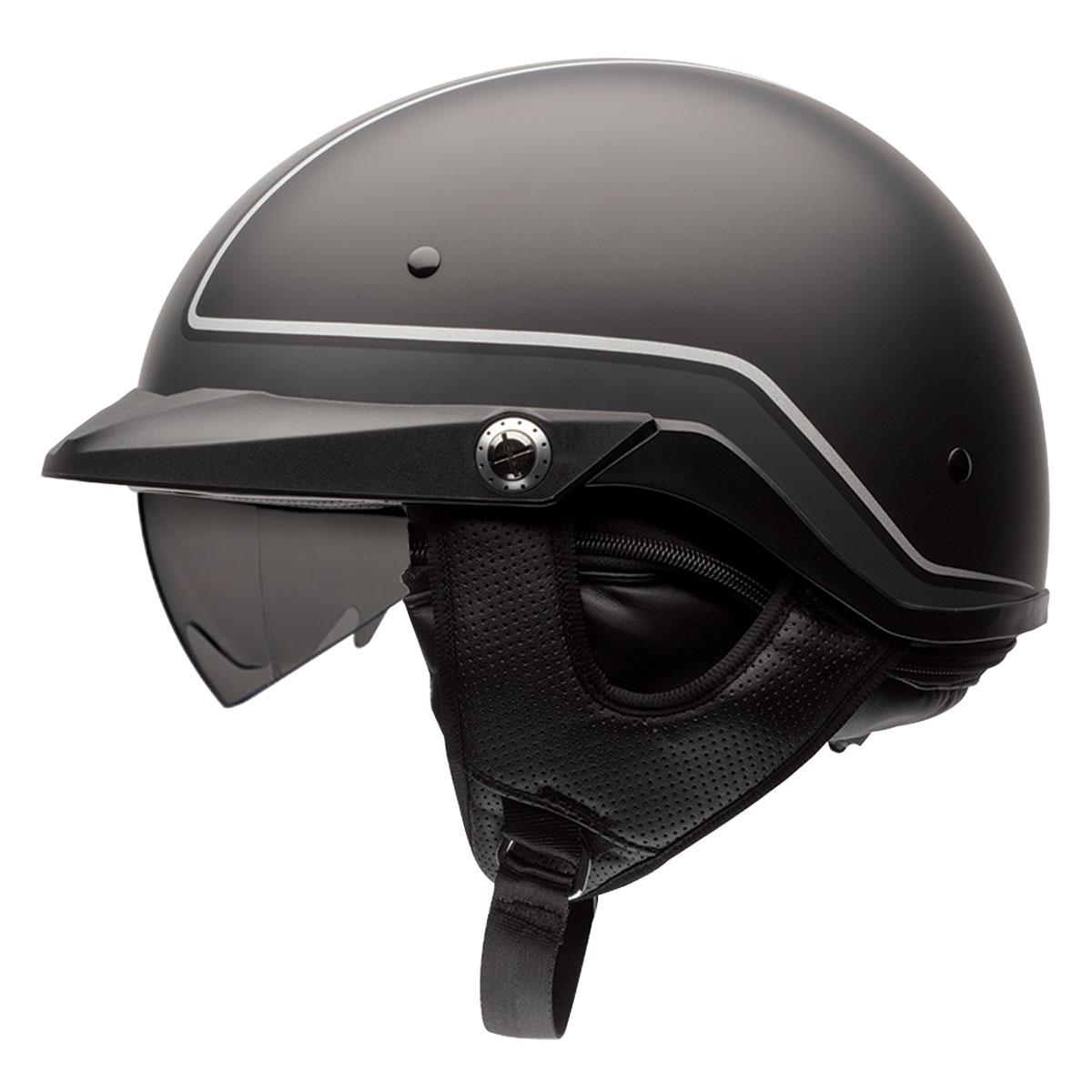 Bell Pit Boss Pinstripe Black/Gray Half Helmet