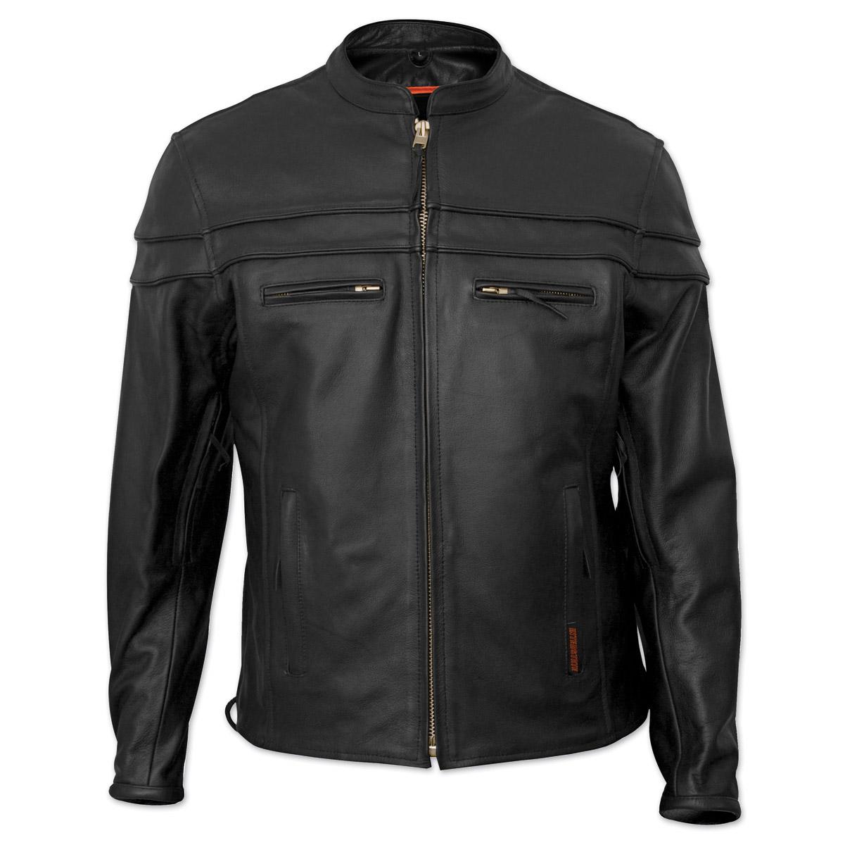 Interstate Leather Men's Rebel Black Leather Jacket