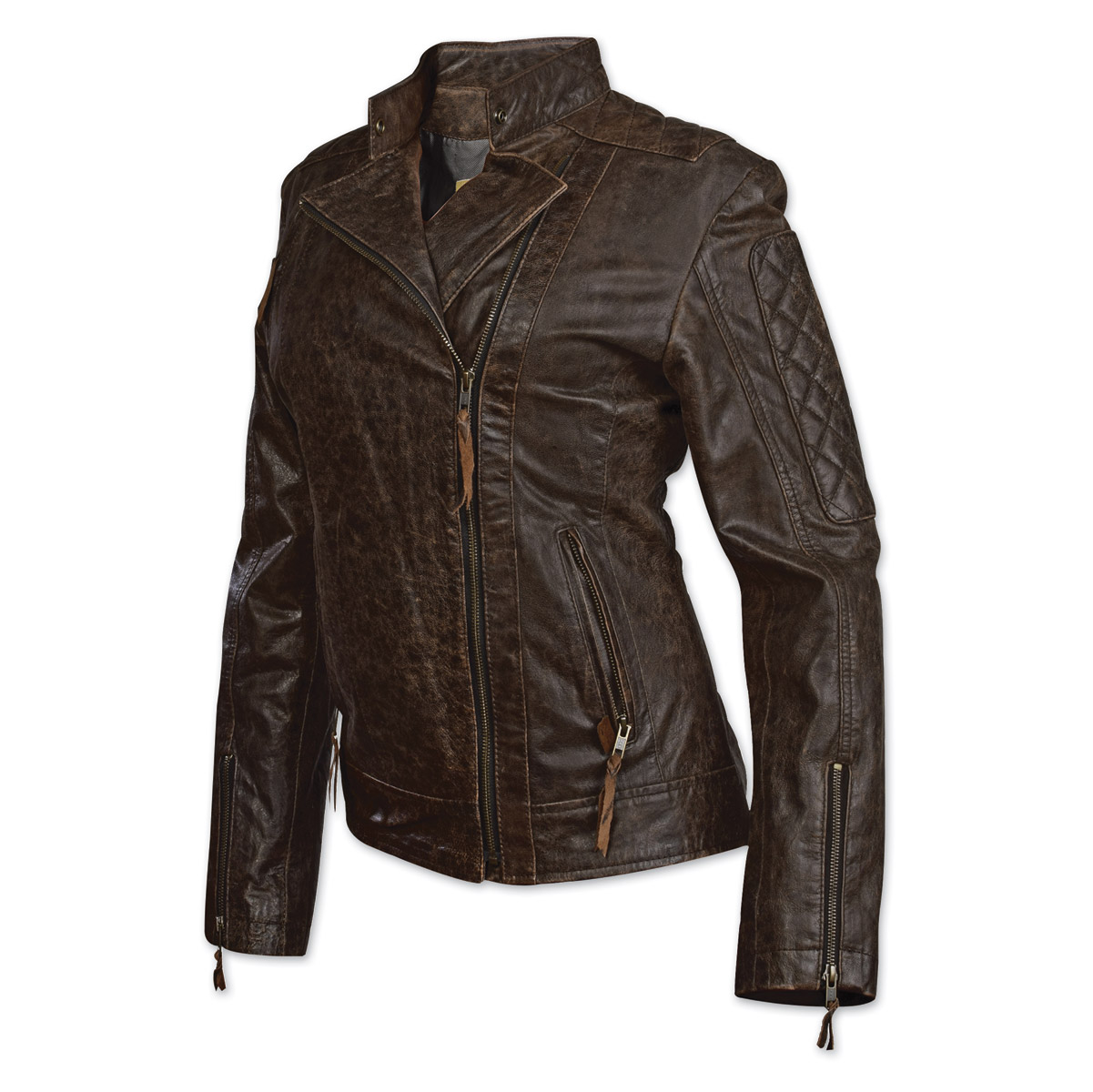 355808efb StS Ranchwear Women's Lucy Distressed Brown Leather Jacket - STS5873-SM