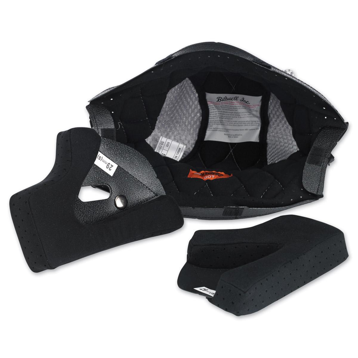 Biltwell Inc. Gringo/Gringo S Black/Silver Helmet Liner