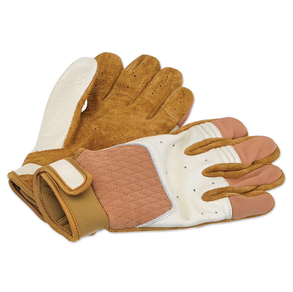 Biltwell Inc. White/Tan Bantam Gloves