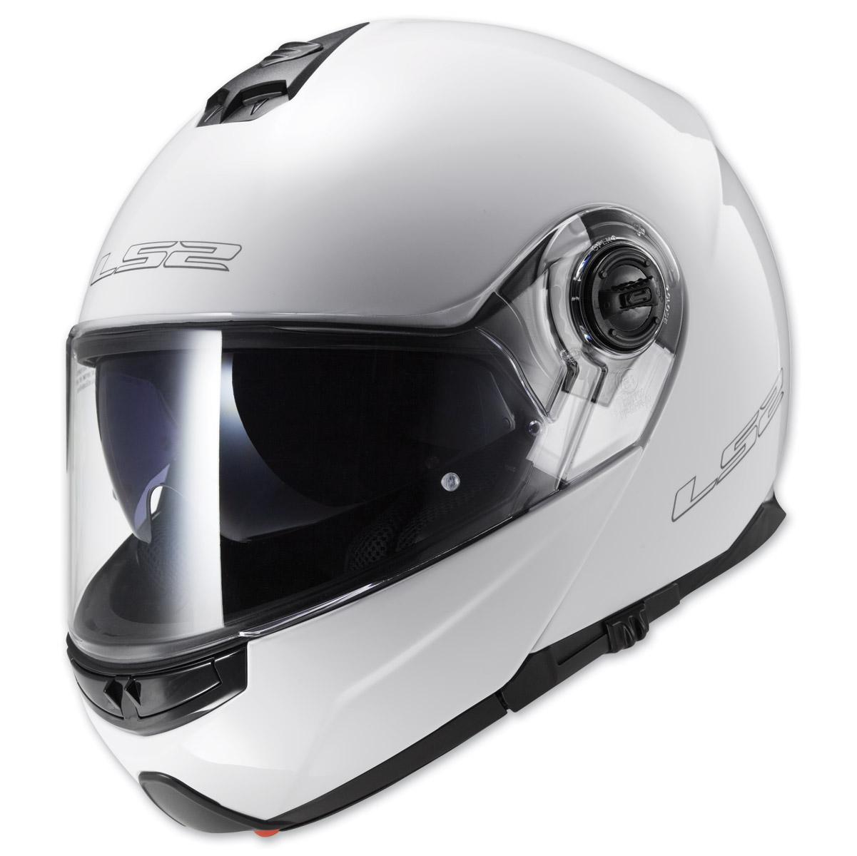 LS2 Strobe Pearl White Modular Helmet