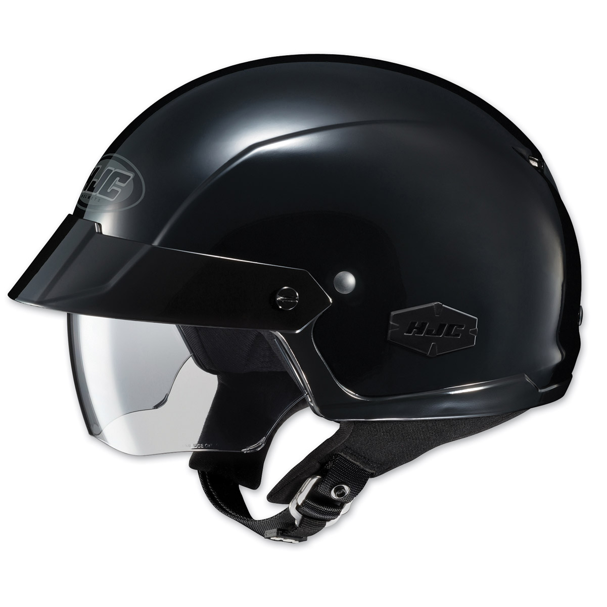 HJC IS-Cruiser Solid Black Half Helmet