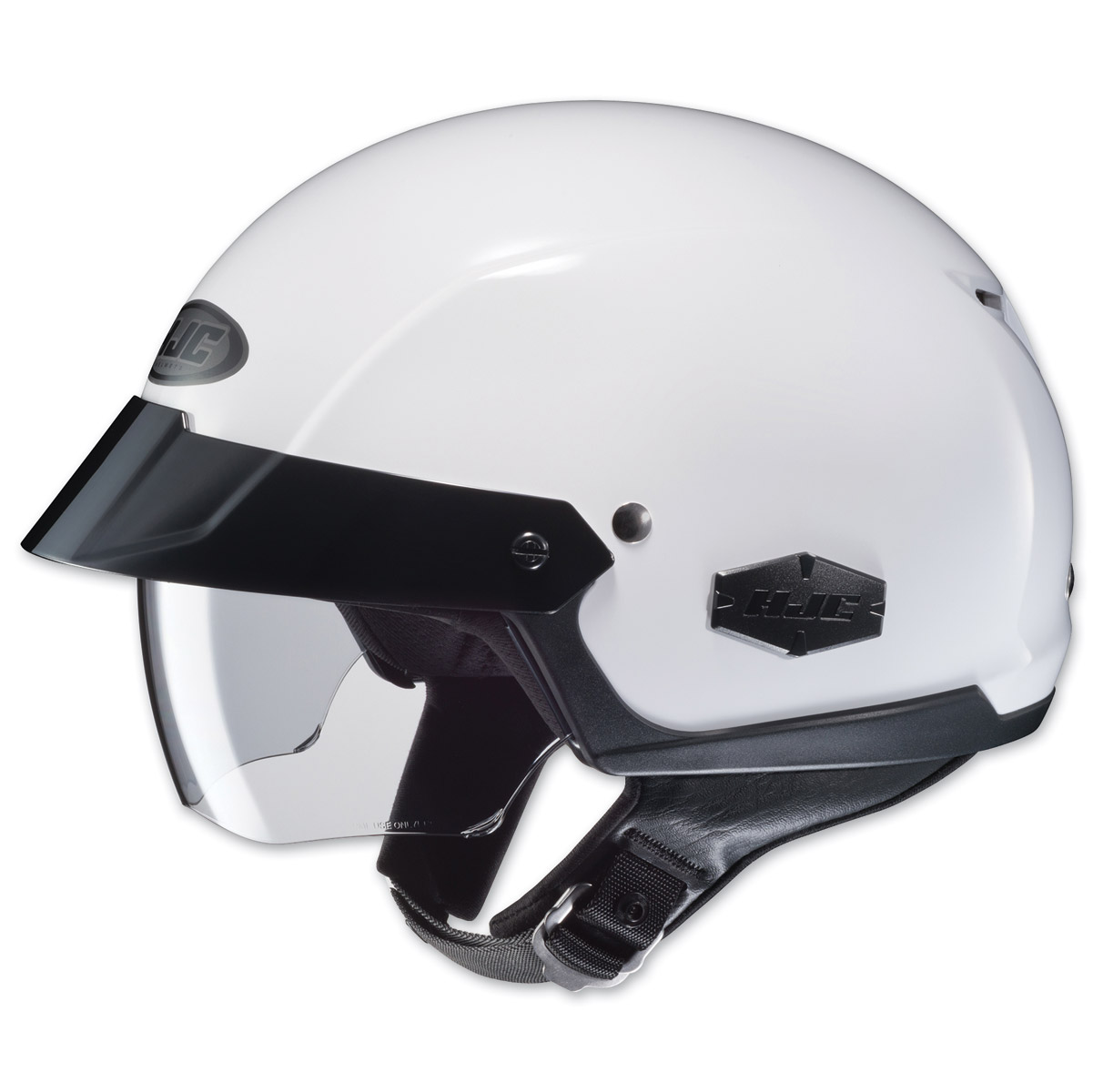 HJC IS-Cruiser Solid White Half Helmet