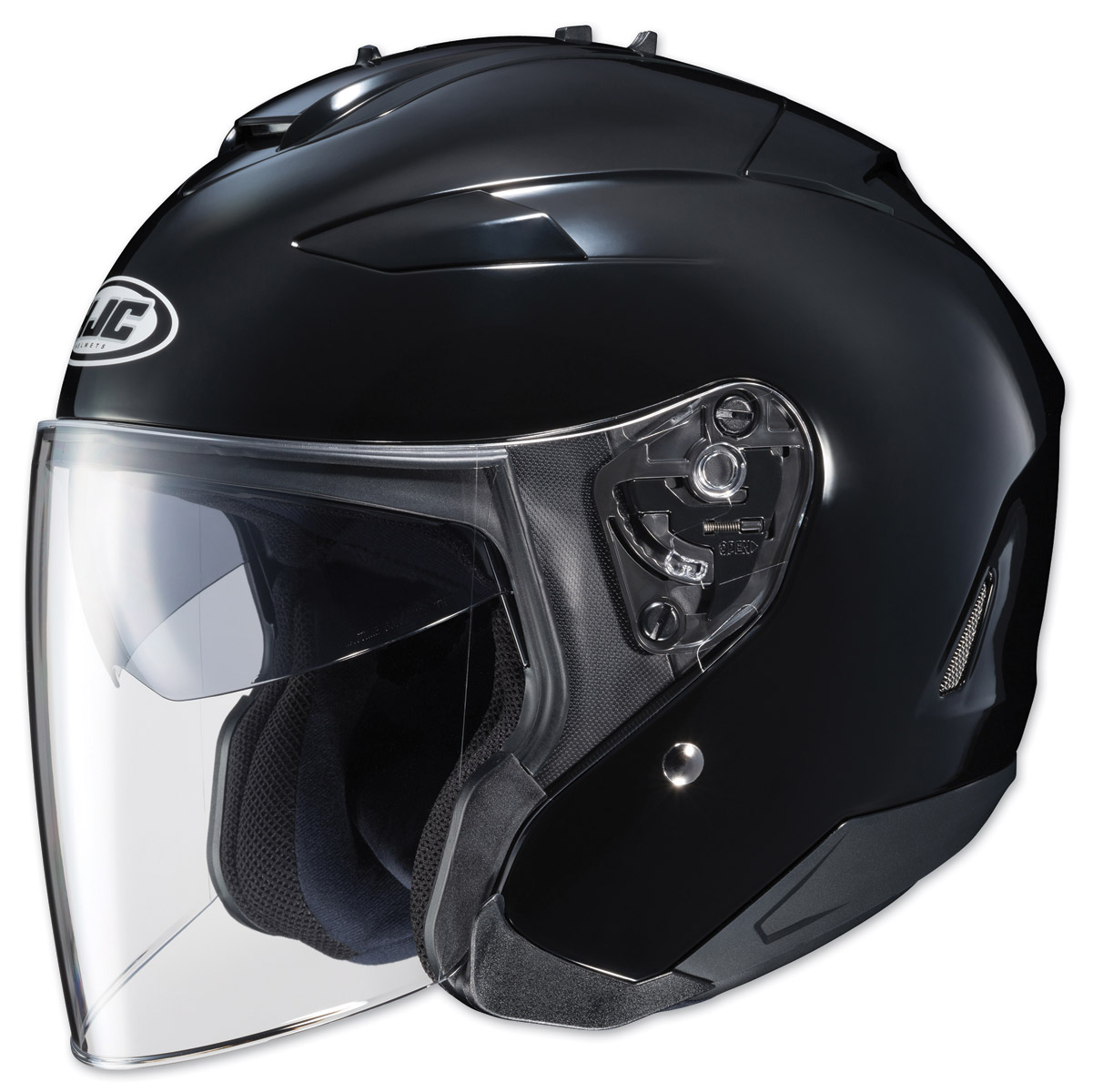 HJC IS-33 II Solid Black Open Face Helmet