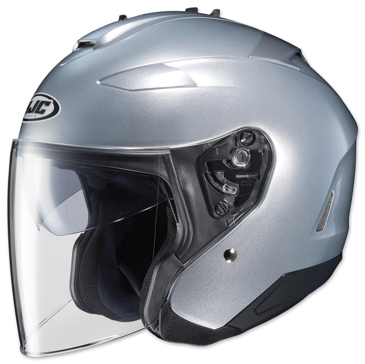 HJC IS-33 II Metallic Silver Open Face Helmet