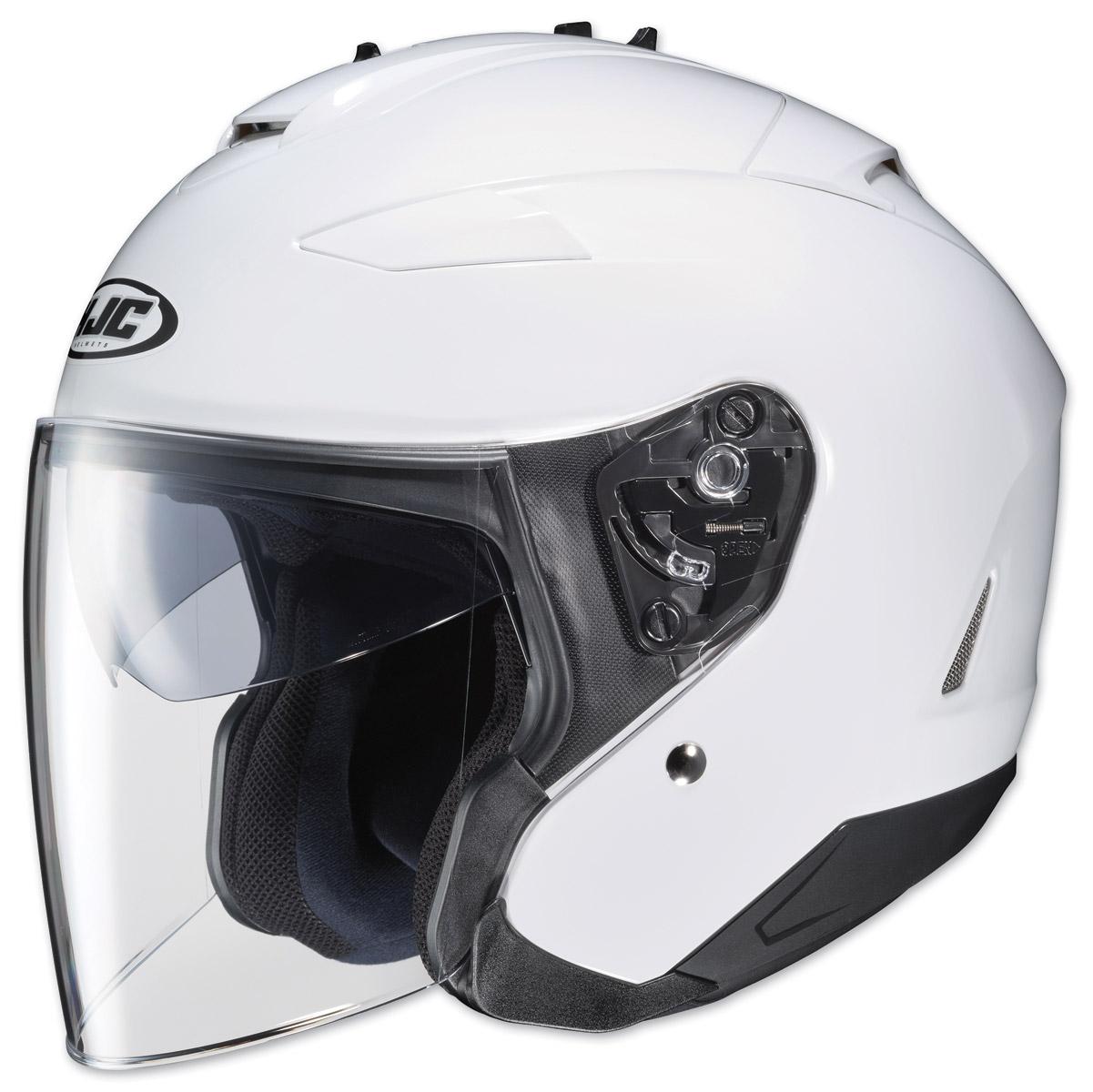 HJC IS-33 II Solid White Open Face Helmet