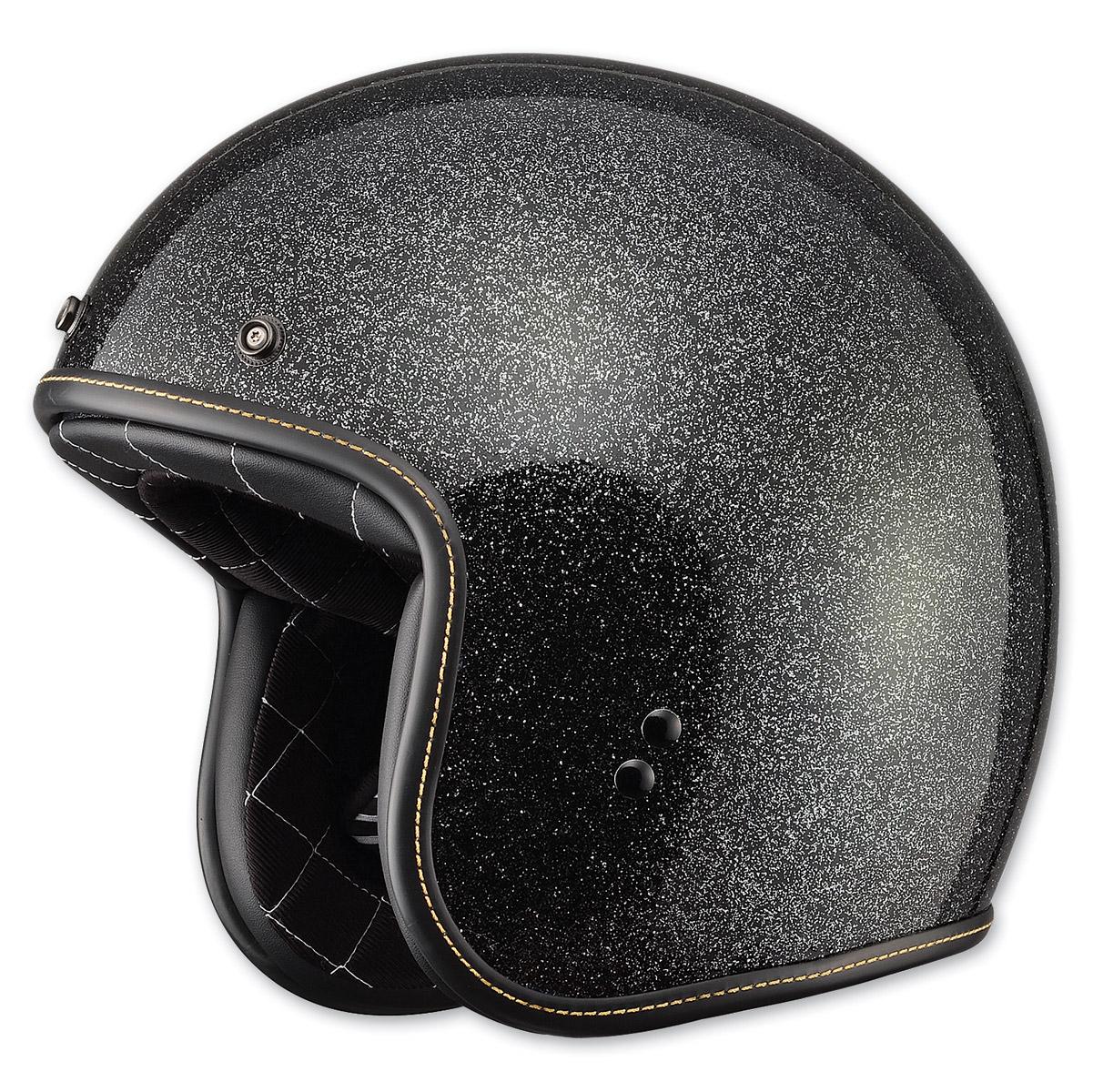 FLY Racing Street .38 Retro Metal Flake Black Open Face Helmet