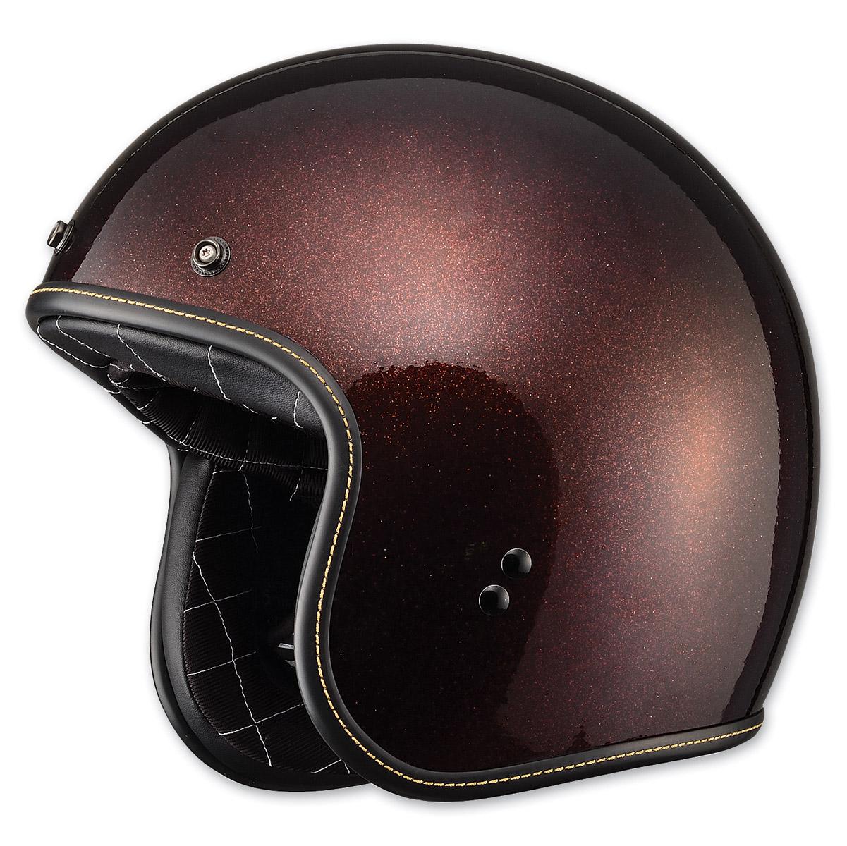 FLY Racing Street .38 Retro Metal Flake Rootbeer Open Face Helmet