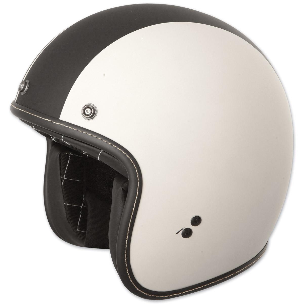 FLY Racing Street .38 Retro Vintage White Racer Open Face Helmet