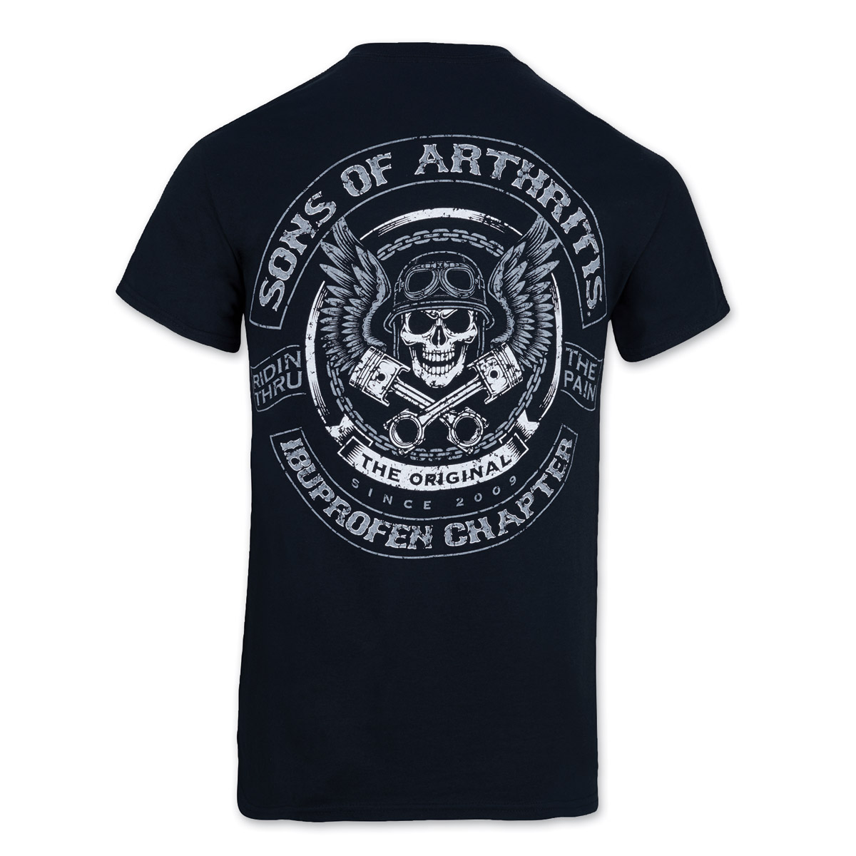 Sons of Arthritis Men's Skulls & Pistons Black T-Shirt | 743-500 ...