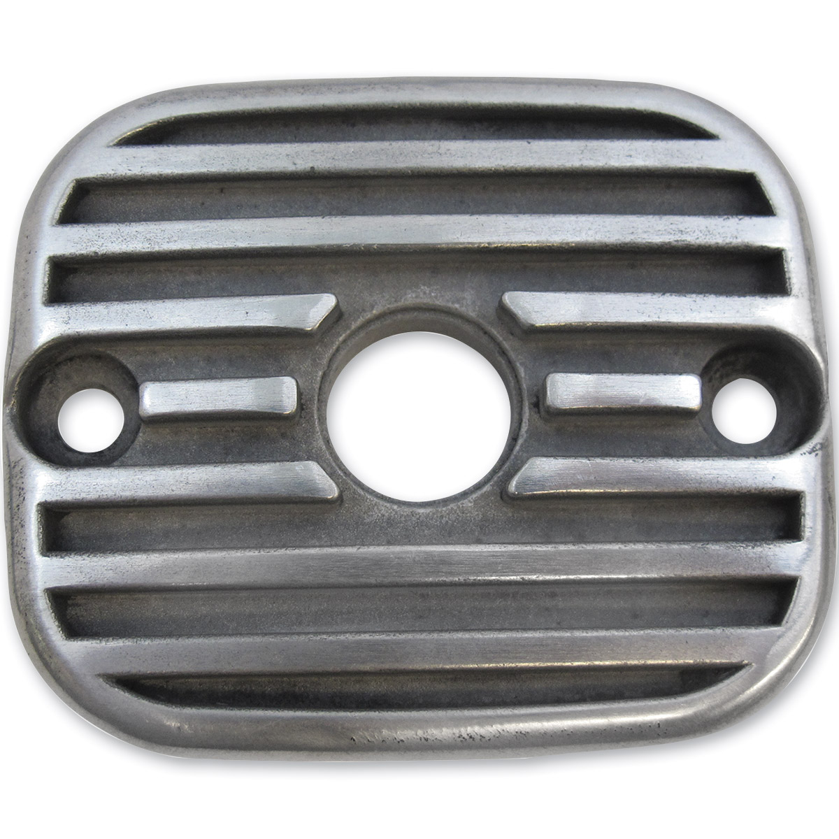 Lowbrow Customs Finned Semi Polished Front Master Cylinder Cover - 004041