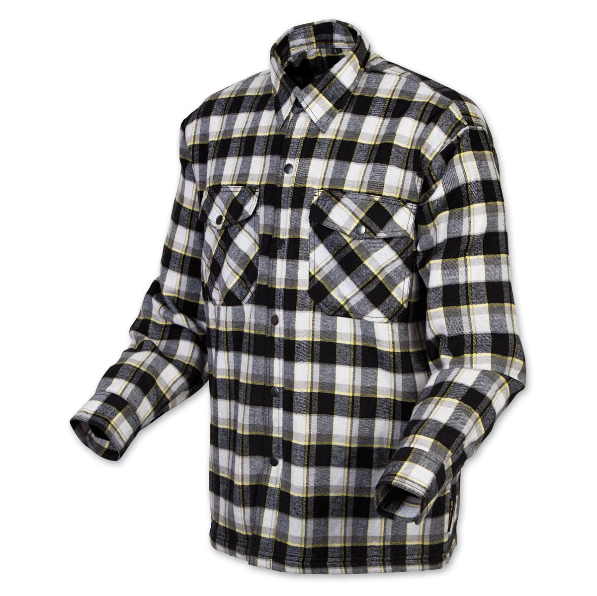 Flannel Motorcycle Jacket >> Scorpion Exo Men S Covert Black Yellow Flannel Shirt 743 854 J P