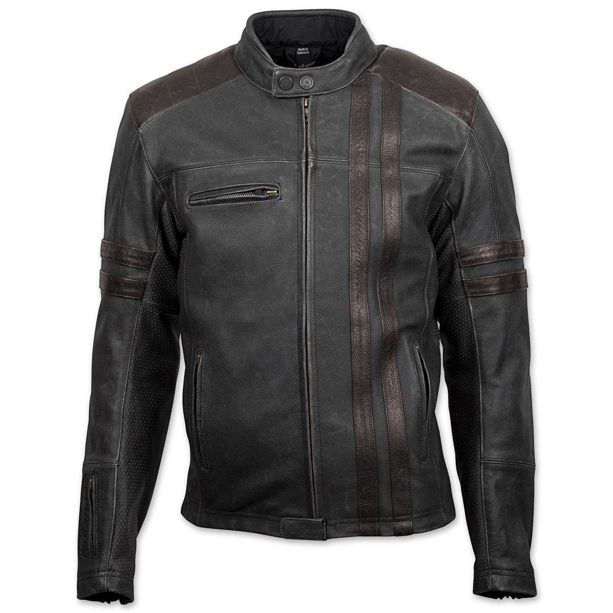 Scorpion EXO Men's 1909 Distressed Black Leather Jacket