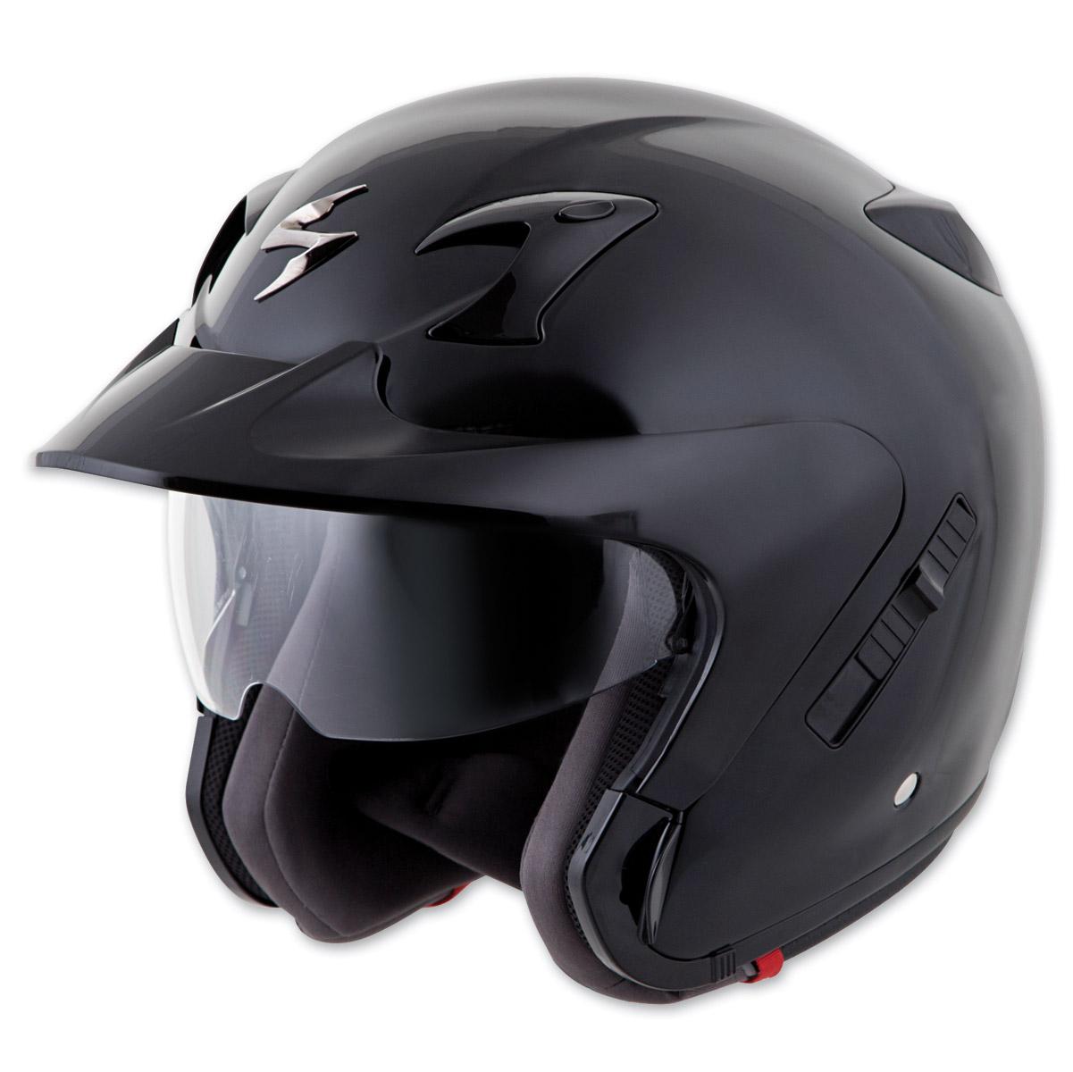 Scorpion EXO EXO-CT220 Solid Black Open Face Helmet