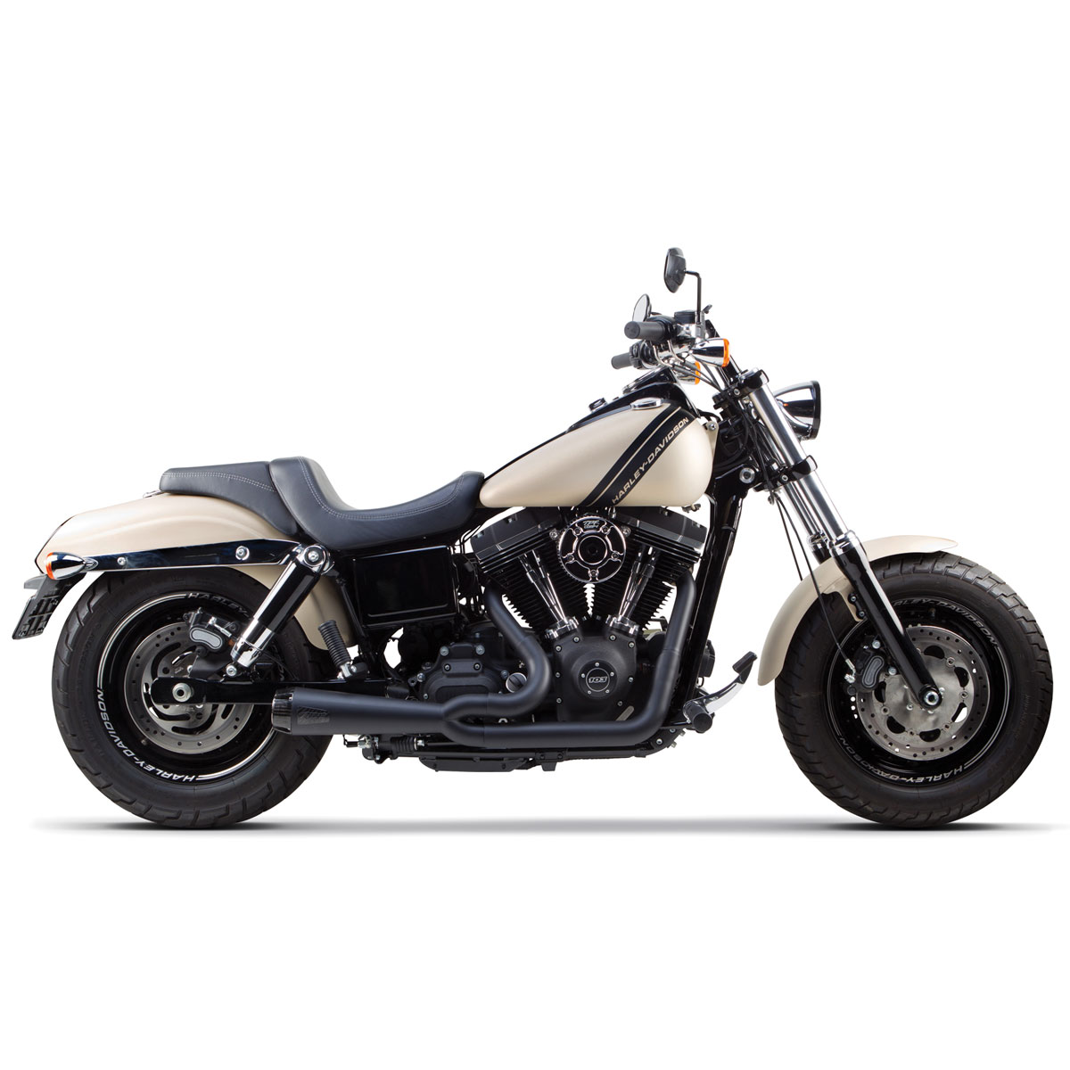 Two Brothers Racing Comp-S 2-1 Exhaust Ceramic Black Stainless Steel with Carbon Fiber Tip