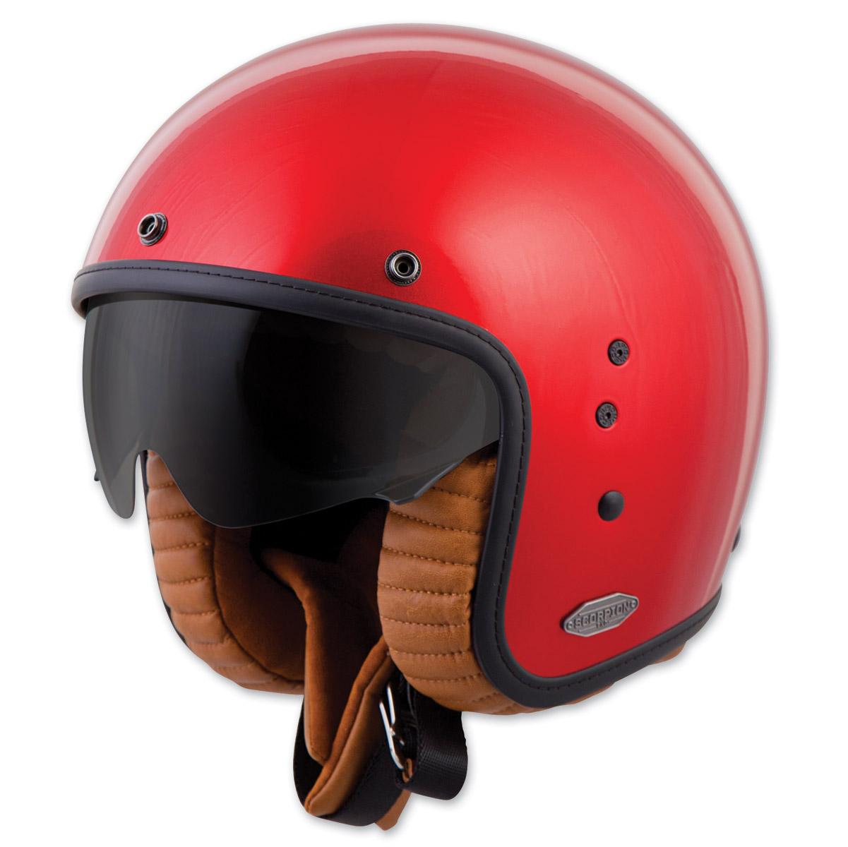 Scorpion EXO Belfast Solid Candy Red Open Face Helmet